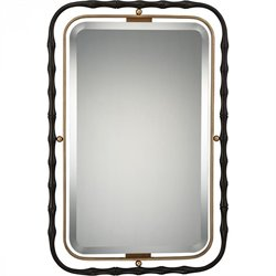 Quoizel Maxim Large Mirror in Western Bronze