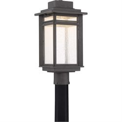 Quoizel Beacon Large LED Post Lantern in Stone Black