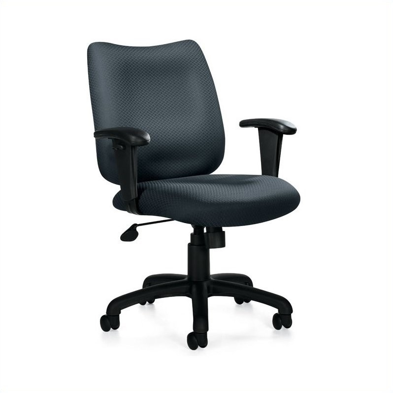 Office Chair with Arms in Black