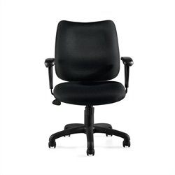 Offices to Go Tilter Office Chair with Arms in Black