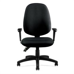 Offices to Go Multifunction Chair with Arms in Black