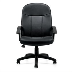 Offices to Go Luxhide Manager's Office Chair in Black
