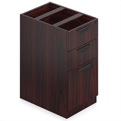 Offices to Go 3 Drawer Vertical Box and File Pedestal with Lock (Top Not Included) - American Mahogany