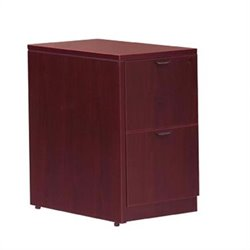 Offices to Go 2 Drawer Vertical Wood File Pedestal with Lock - American Mahogany