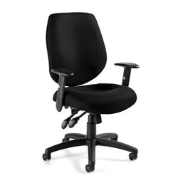 Offices To Go Adjustable Ergonomic Chair in Black
