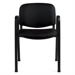 Offices To Go Stacking Guest Stacking Chair in Black