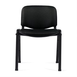 Offices To Go Stackable Armless Guest Chair in Black