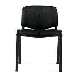 Stacking Armless Guest Stacking Chair in Black