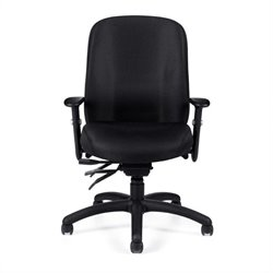 Offices To Go Multi-Function Office Chair with Arms in Black