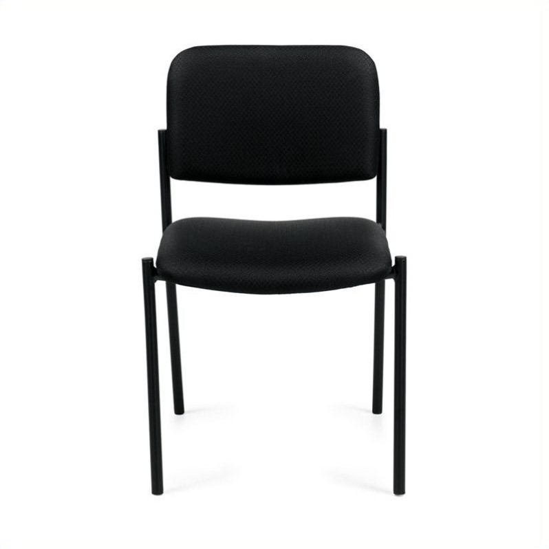 Armless Stacking Chair in Black
