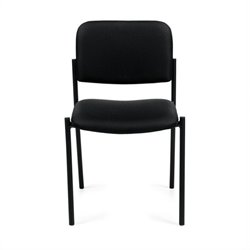 Offices To Go Armless Stacking Chair in Black