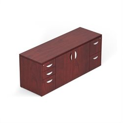 Offices To Go 298 Cabinet with Locking Pedestals in Cordovan