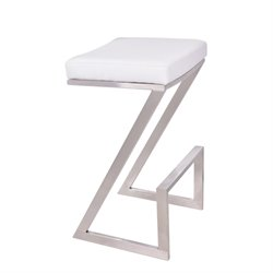 Armen Living Atlantis Stool in White