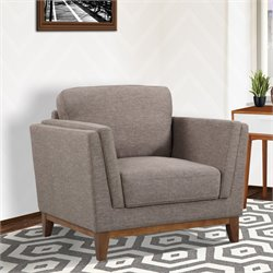 Armen Living Brussels Chair in Brown