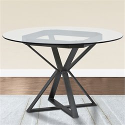 Armen Living Cairo Round Dining Table in Mineral