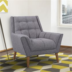 Armen Living Cobra Chair in Dark Gray