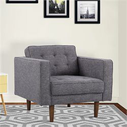 Armen Living Element Chair in Dark Gray