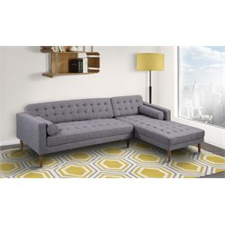 Armen Living Element Right Sectional in Dark Gray
