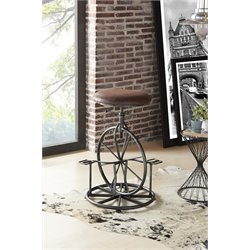Armen Living Harlem Adjustable Bar Stool in Industrial Gray
