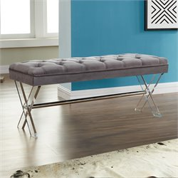 Armen Living Joanna Bench in Gray