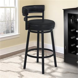 Madrid Stool in Ford Black and Black