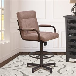 Vancouver Stool in Auburn Bay and Brown Microfiber