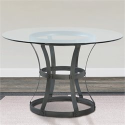 Armen Living Vancouver Round Dining Table in Mineral