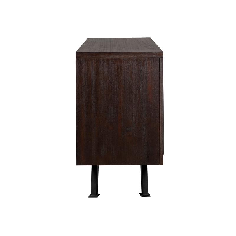 Pirate Brown Acacia Solid Wood Sideboard Cabinet