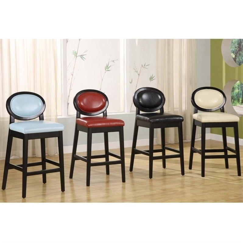 Armen Living Martini 26 Quot Stationary Leather Bar Stool
