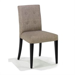 Armen Living Wall St. Fabric Side Chair in Gray (Set of 2)