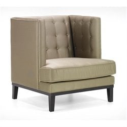 Armen Living Noho Fabric Tufted Club Chair in Tan
