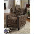 Accent Chair in Tiger Chenille