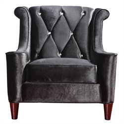 Armen Living Barrister Tufted Club Chair in Black