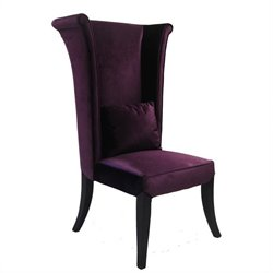 Armen Living Mad HatterParsons Dining Chair in Purple