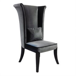Armen Living Mad Hatter Parsons Dining Chair in Gray