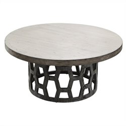 Armen Living Centennial Coffee Table in Grey