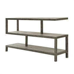 Armen Living Solid Wood and Iron Maxton Console Table in Natural