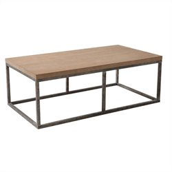 Armen Living Sahara Coffee Table in Antique Whitewash