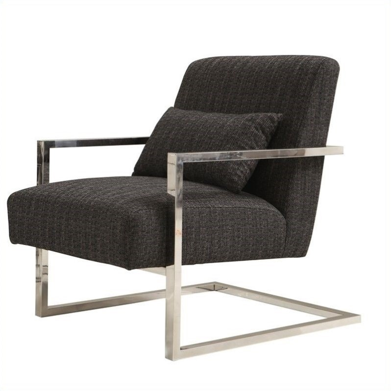 Merveilleux Armen Living Skyline Accent Chair In Charcoal