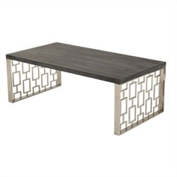 Armen Living Skyline Coffee Table in Charcoal