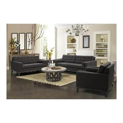 Armen Living 3pc Chenille Centennial Sofa Set