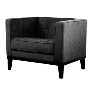 Armen Living Roxbury Chair in Charcoal
