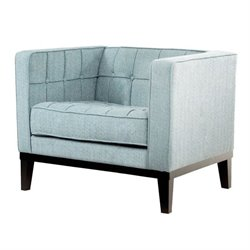 Armen Living Roxbury Chair in Spa Blue