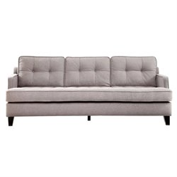 Armen Living Eden Sofa Cement in Gray