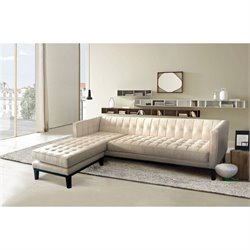 Armen Living Roxbury Reversible Sectional in Cream