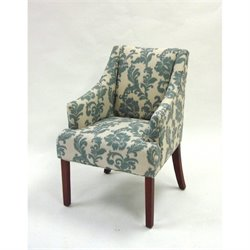 Armen Living Ikat Fabric Accent Chair in Ikat slate