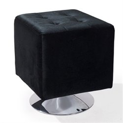 Armen Living Pica Square Ottoman in Black