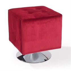 Armen Living Pica Square Ottoman in Red