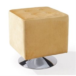 Armen Living Pica Square Ottoman in Yellow