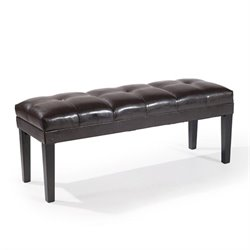 Armen Living Howard Leather Bench